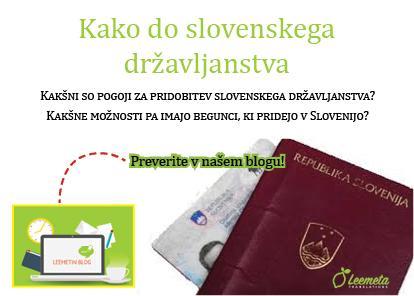 Kako do slovenskega državljanstva