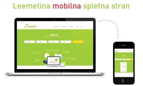 Leemetina mobilna spletna stran